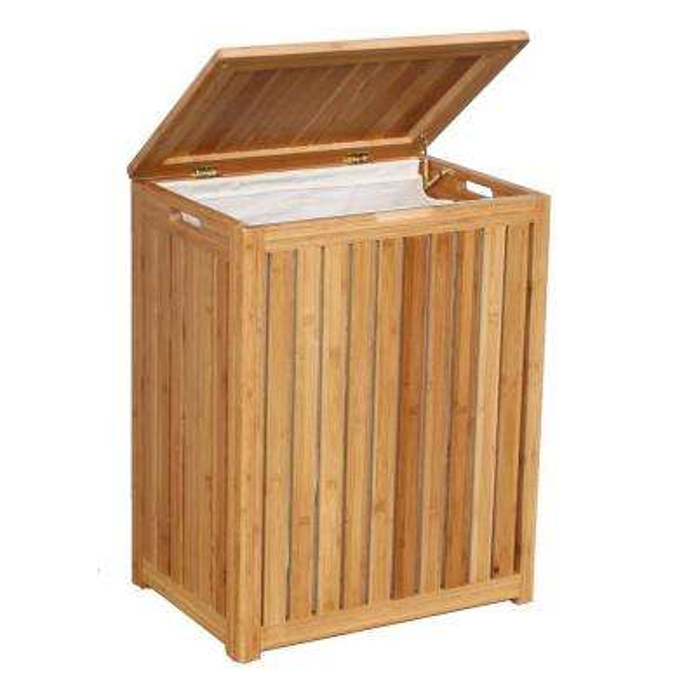 Spa-Style Bamboo Laundry Hamper