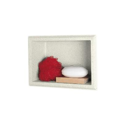7.5 in. W x 4 in. D x 10.8 in. H Recessed Soap Dish in Bisque