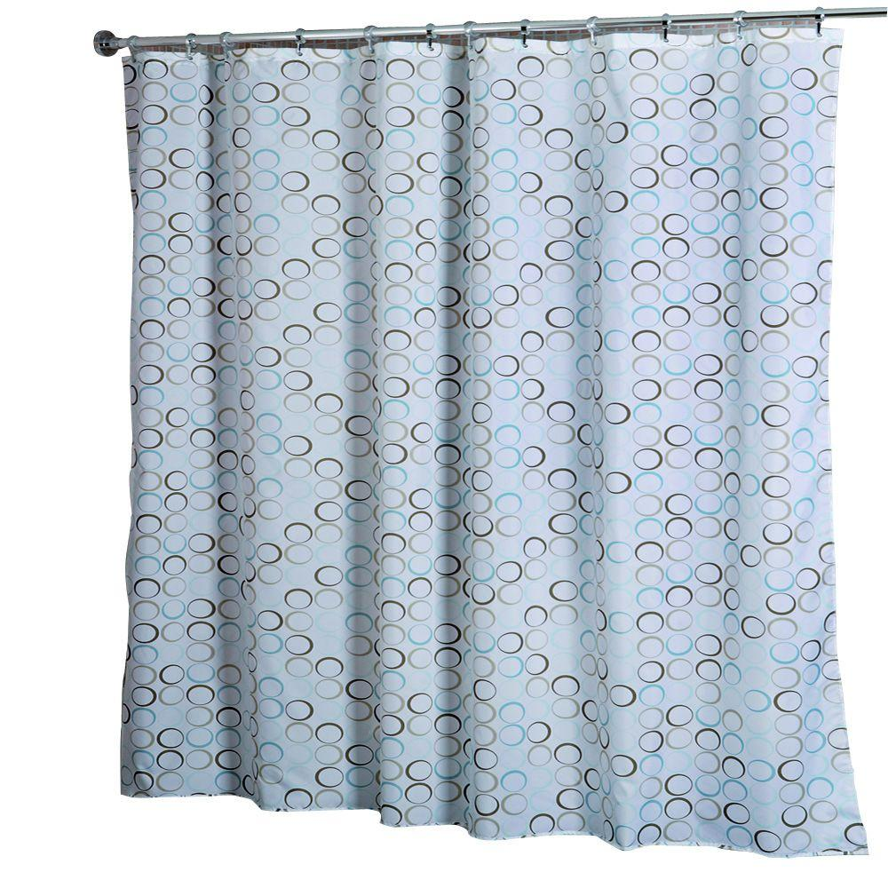 croydex shower curtain in teal rings af583339yw the home. Black Bedroom Furniture Sets. Home Design Ideas