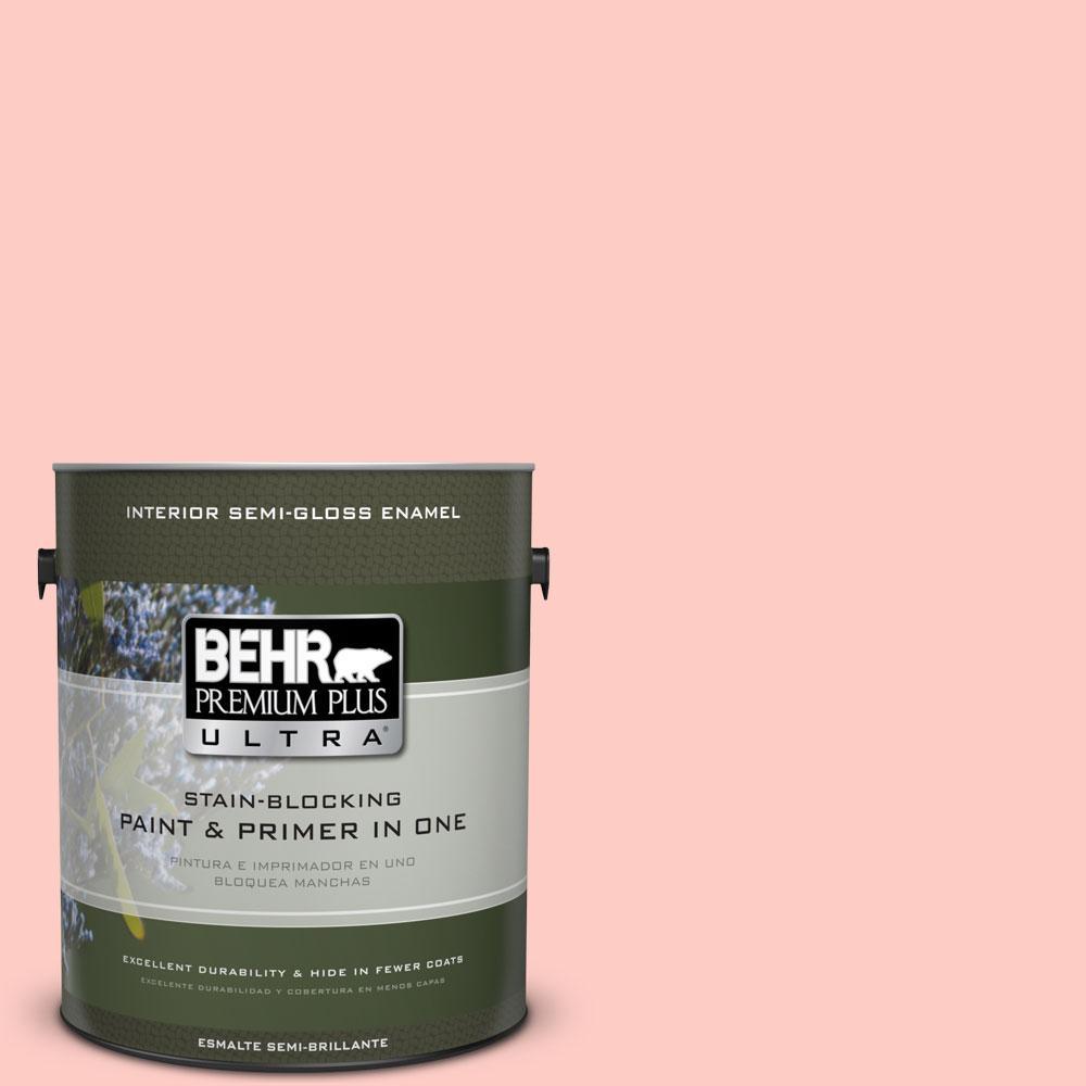 BEHR Premium Plus Ultra 1-gal. #190C-2 Full Bloom Semi-Gloss Enamel Interior Paint