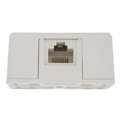 8P8C Surface Mount Jack, White