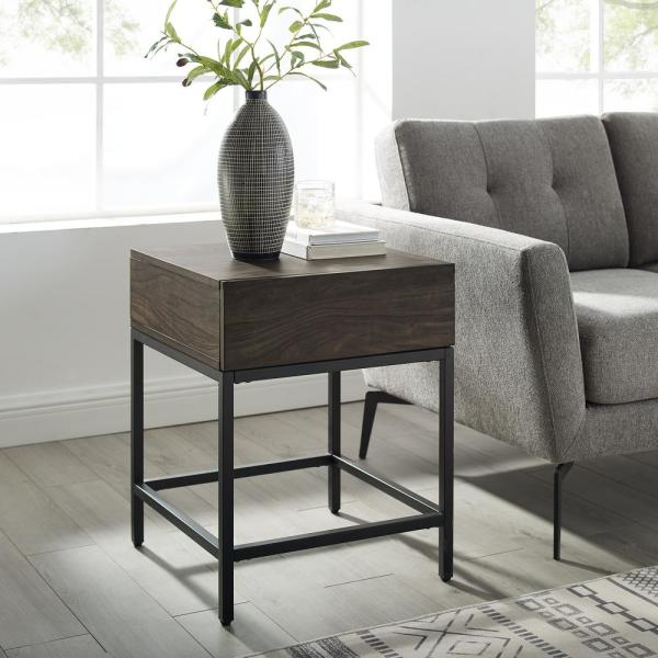 Crosley Furniture Jacobsen 22 5 In Brown Ash End Table Cf1314 Br The Home Depot