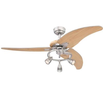 Elite 48 in. Dimmable LED Brushed Nickel Ceiling Fan with Light Kit