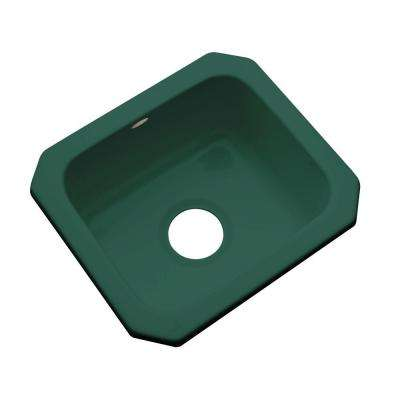 Manchester Undermount Acrylic 16 in. 0-Hole Single Bowl Kitchen Sink in Rain Forest