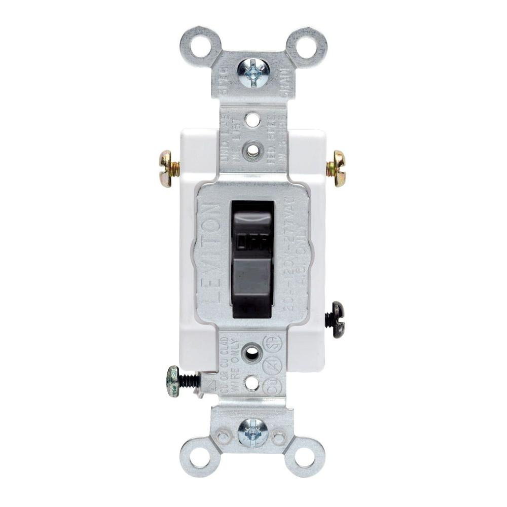 Leviton 60 Amp 600 Volt Industrial Grade Three Pole 3 Phase Ac Motor 7237 Circuit Breaker Black Toggle 30 Double Aseries 20 Way Preferred Switch