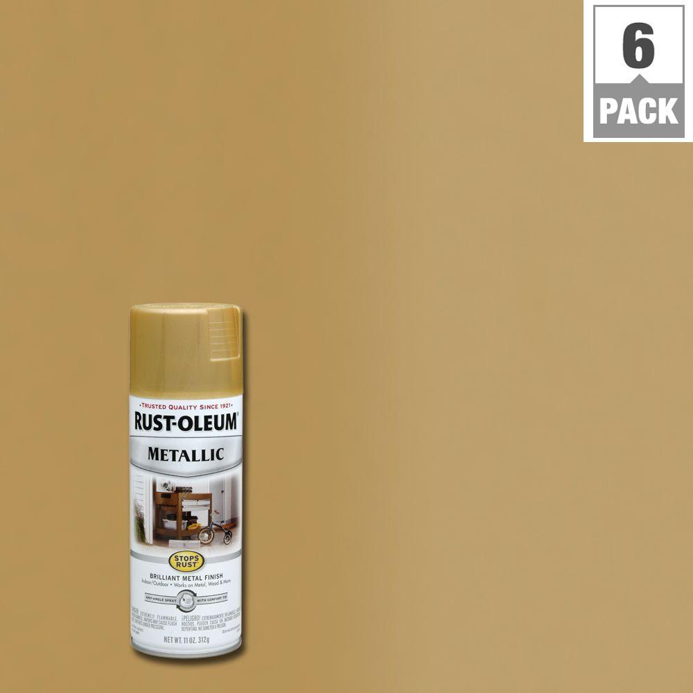 11 oz. Gold Rush Protective Enamel Metallic Spray Paint (6-Pack)