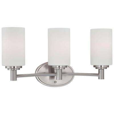 Pittman 3-Light Brushed Nickel Bath Light
