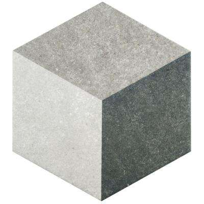 Traffic Hex 3D Grey 8-5/8 in. x 9-7/8 in. Porcelain Floor and Wall Tile (11.19 sq. ft. / case)