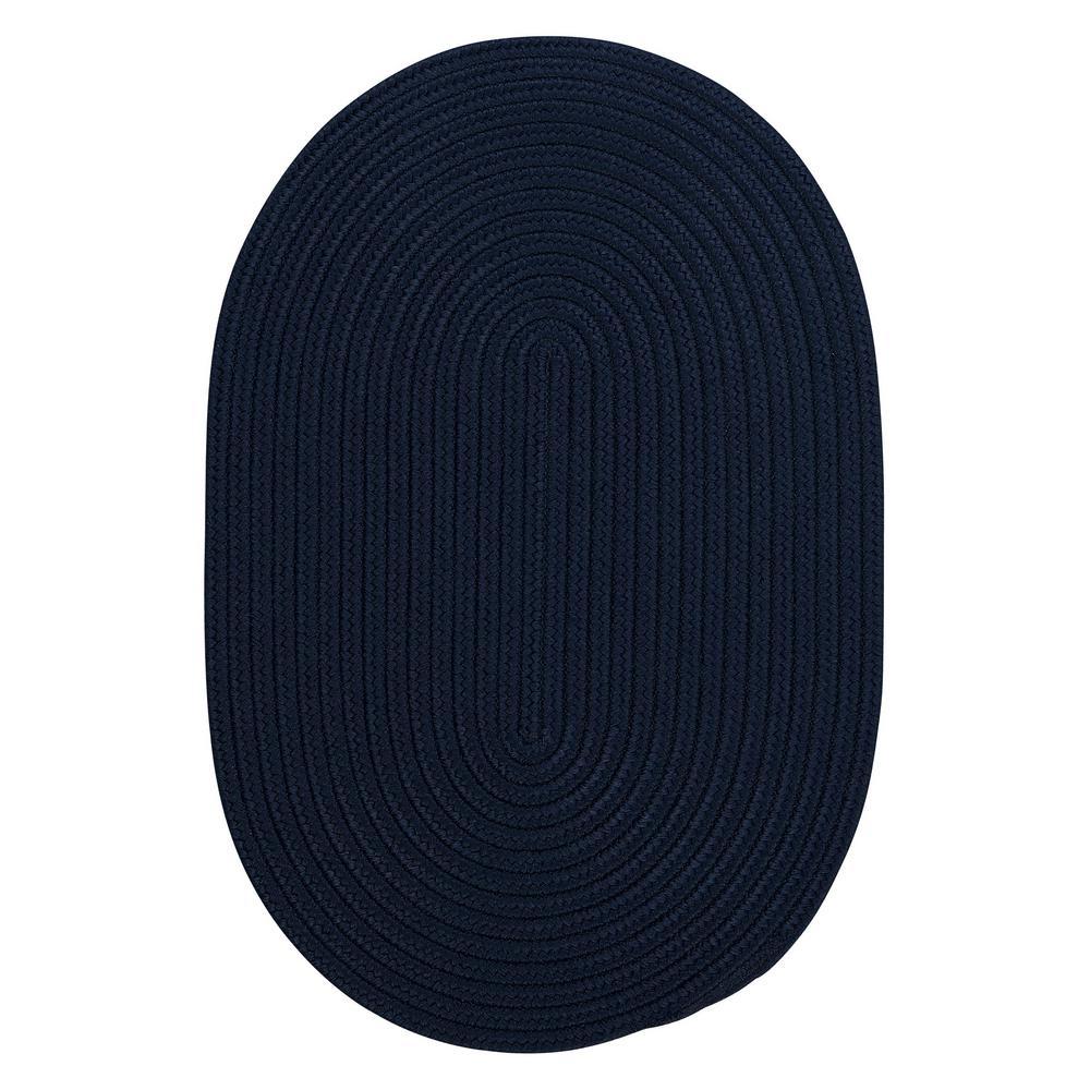 Trends Navy 2 ft. x 6 ft. Braided Runner Rug