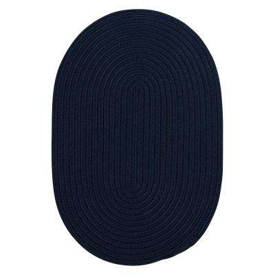 Trends Navy 7 ft. x 9 ft. Braided Oval Area Rug