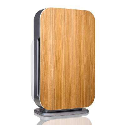 Customizable Air Purifier with HEPA-Silver Filter to Remove Allergies Mold and Bacteria in Oak