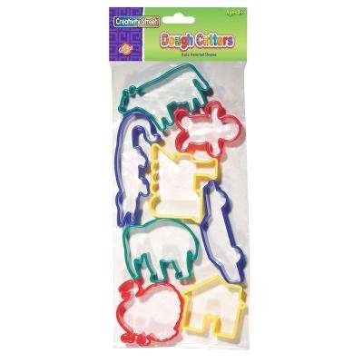 Animal Shapes Dough Cutters Assorted - Plastic 8-Piece