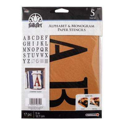 Serif 5 in. Alphabet and Monogram Paper Stencil