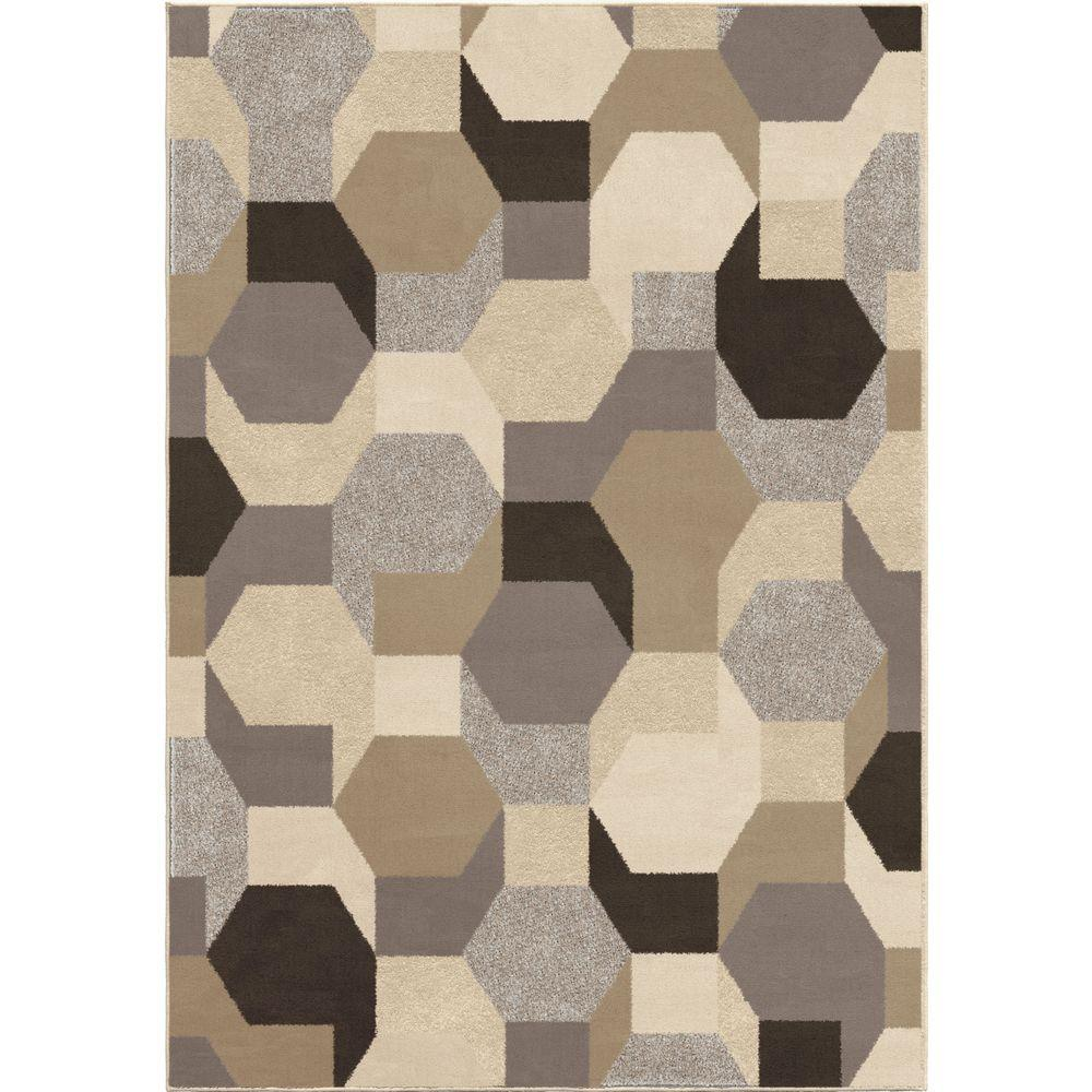 Orian Rugs Patterson Charcoal: Orian Rugs Oasis Multi 5 Ft. 3 In. X 7 Ft. 6 In. Indoor