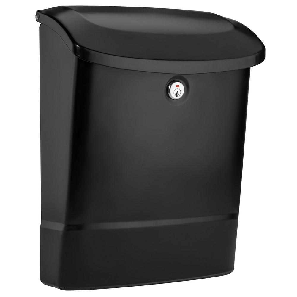 Parkside Locking Wall Mount Mailbox in Black