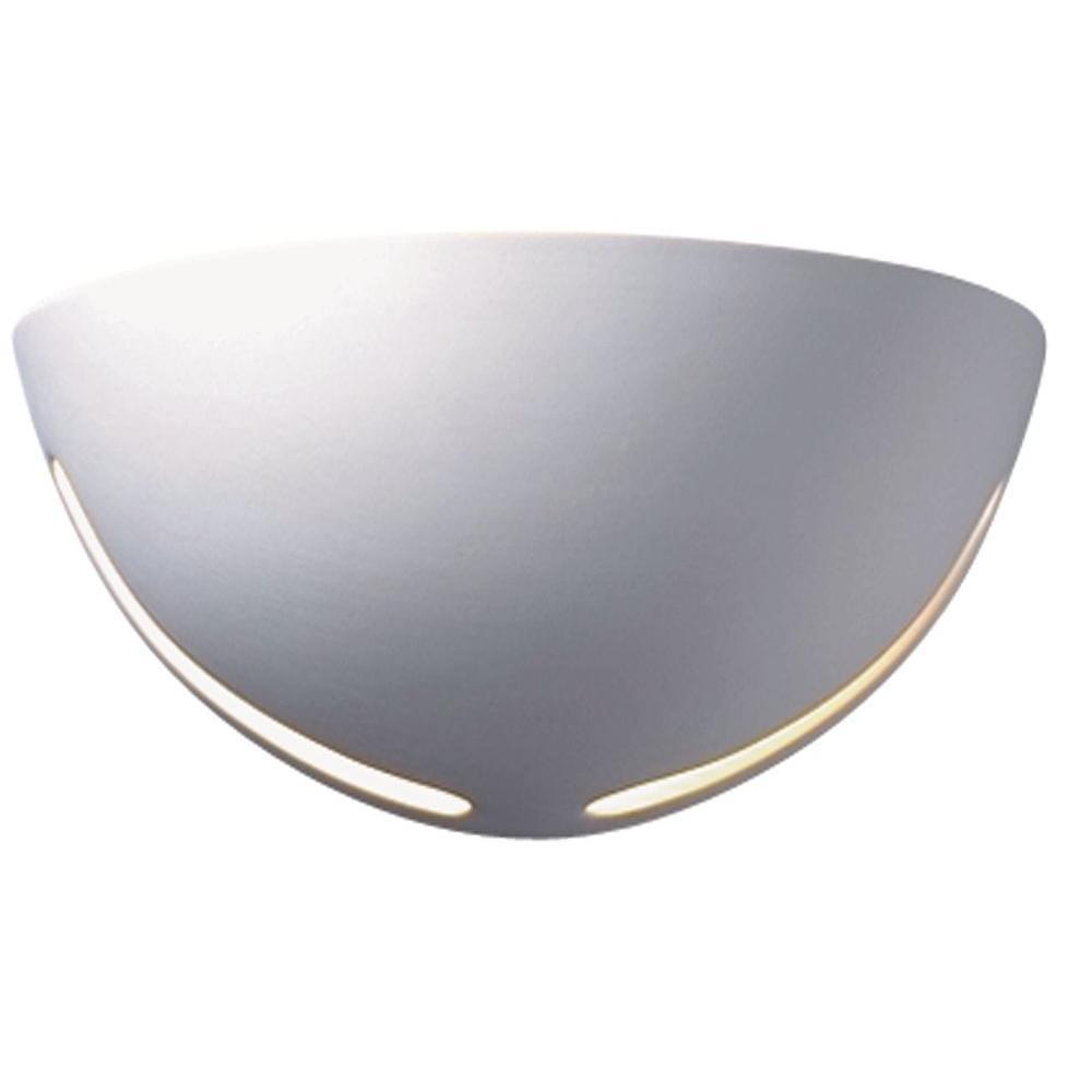 Filament Design Leonidas 1-Light Paintable Ceramic Bisque Small Cosmos Sconce