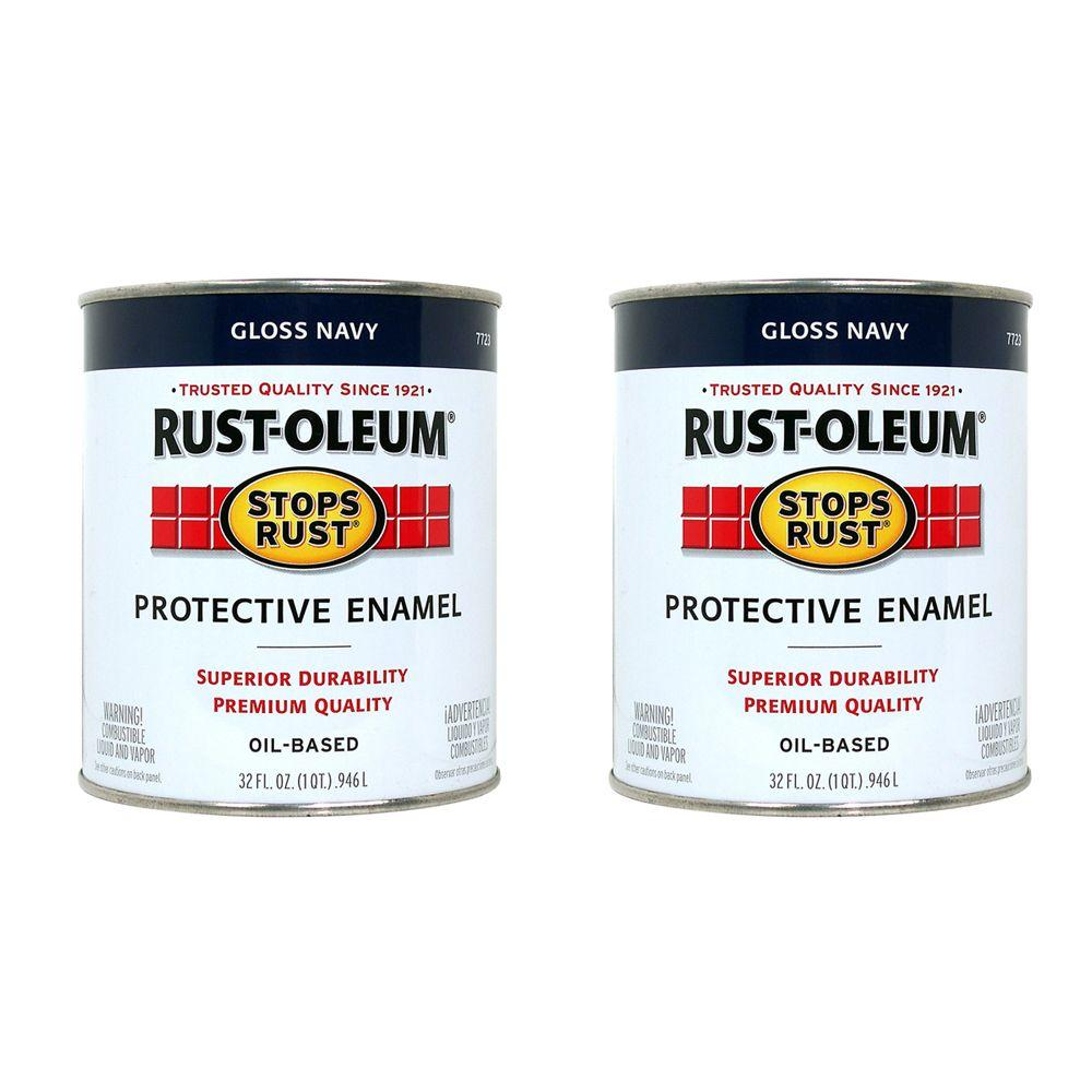 Rust-Oleum Stops Rust 32 oz. Navy Protective Enamel (2-Pack)-DISCONTINUED