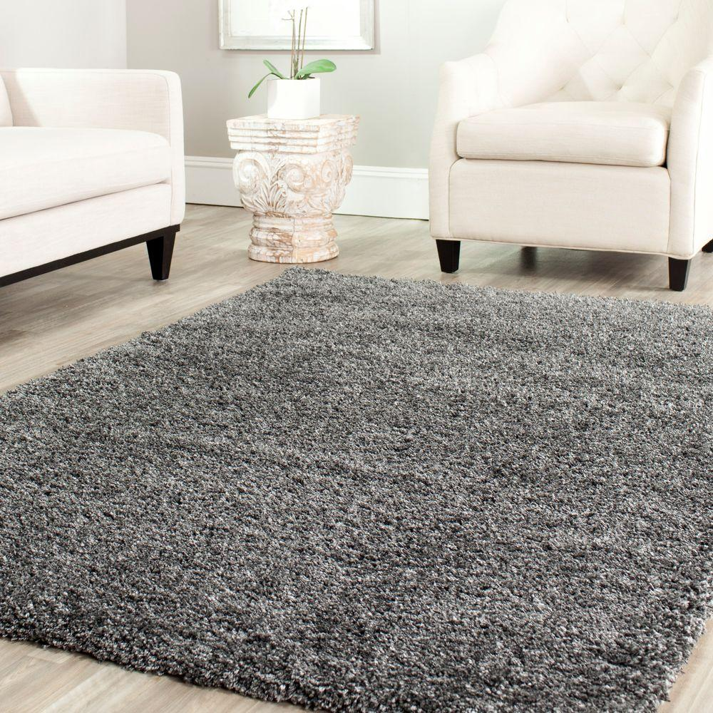 California Shag Dark Gray 11 ft. x 15 ft. Area Rug