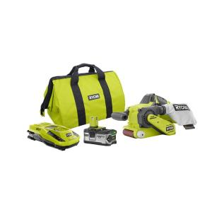 Ryobi 18-Volt ONE+ Belt Sander Kit with 4.0Ah Lithium-Ion Plus Battery, Charger and Bag by Ryobi