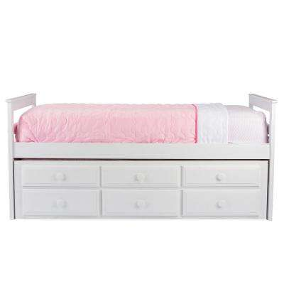 Didrika Twin Wood Kids Trundle Bed