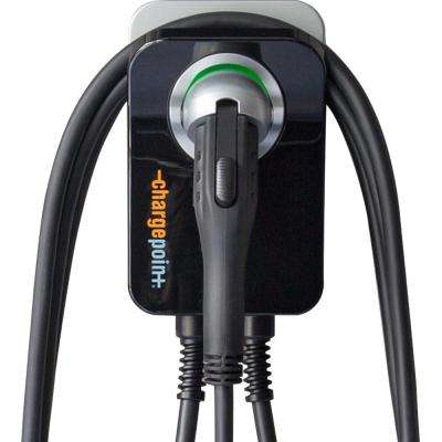 Home Electric Vehicle Charger Wi-Fi Enabled 25 ft. Cord 32 Amp Plug-In Station Indoor Install