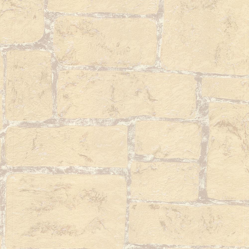 Advantage 8 in. x 10 in. Uwharrie Cream Stone Wallpaper Sample