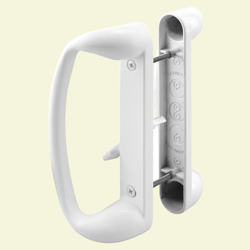 Prime Line Decorative White Sliding Door Handle Set C 1176