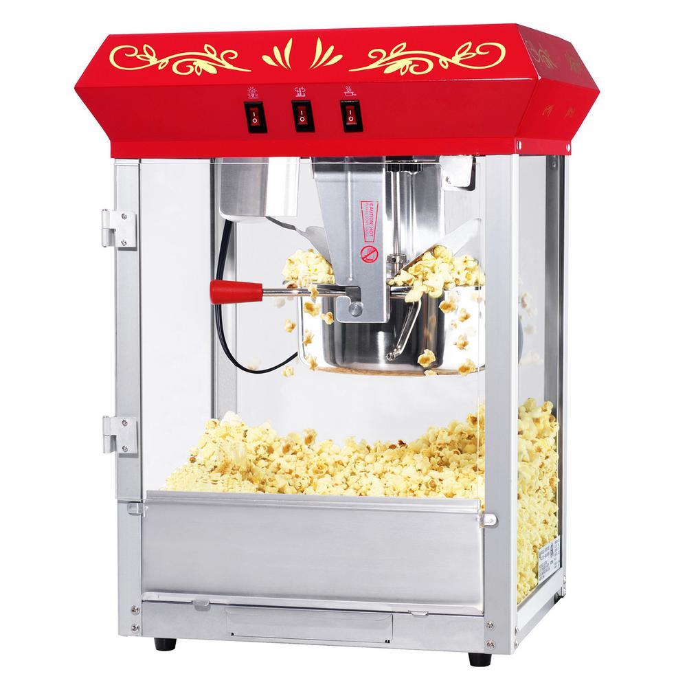 Foundation 8 oz. Red Countertop Popcorn Machine