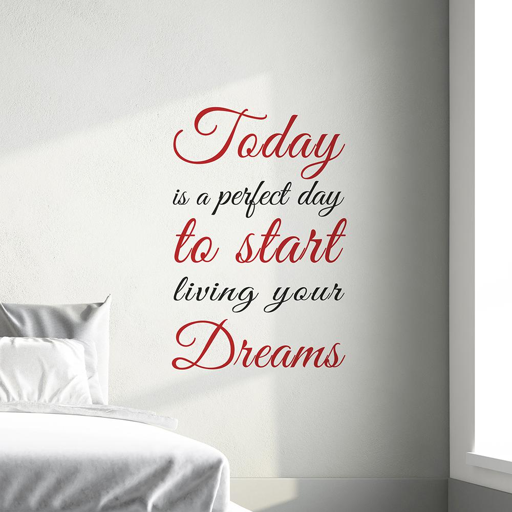 264 In X 186 In Red Today Dreams Wall Quotes Cr 62259 The Home