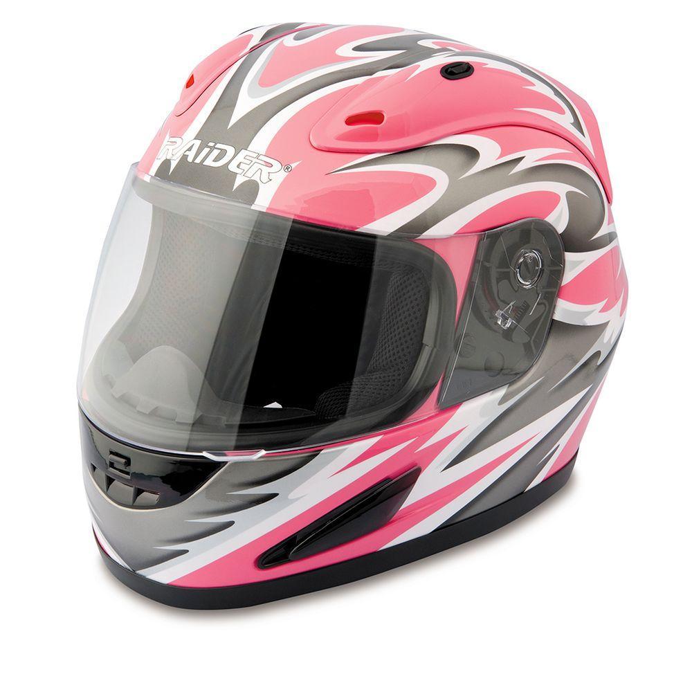 Raider X-Large Adult Pink Full Face Street Helmet