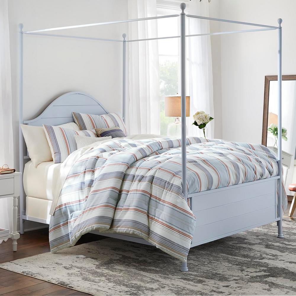 HomeDecoratorsCollection Home Decorators Collection Hickston 5-Piece Yarn Died Stripe Full Comforter Set, Steel Blue