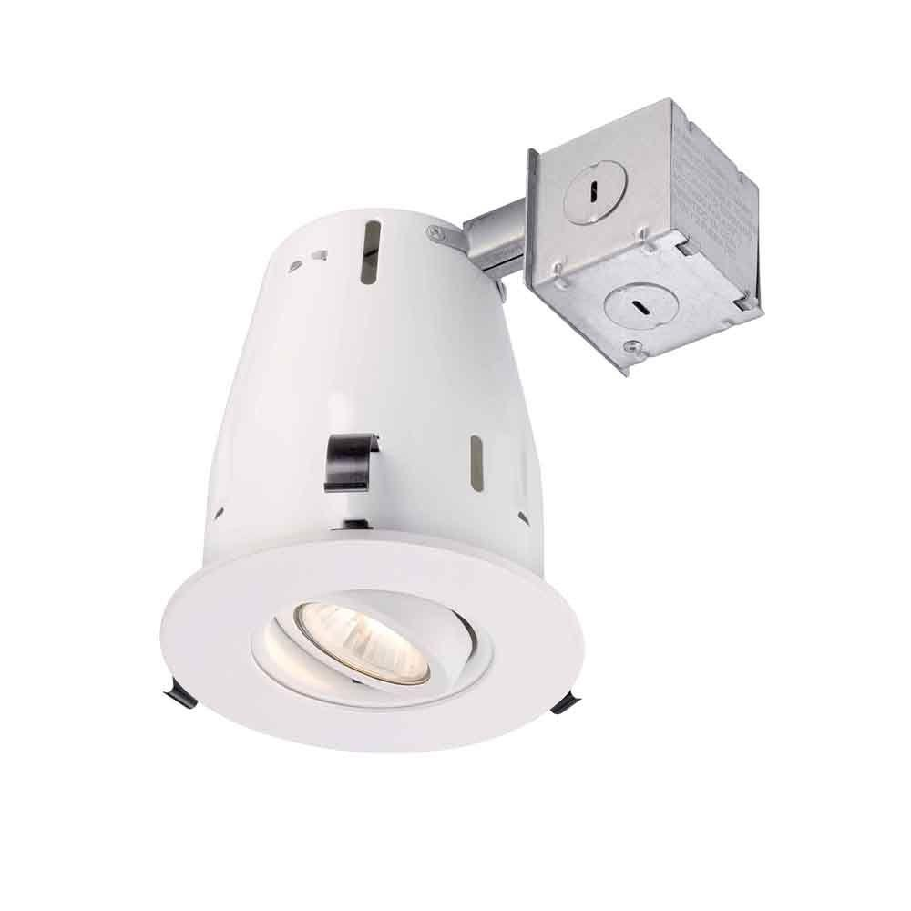 Commercial Electric 4 in. White Integrated LED Recessed Trim with 2700K 93 CRI-CER4730DWH27 - The Home Depot  sc 1 st  The Home Depot & Commercial Electric 4 in. White Integrated LED Recessed Trim with ... azcodes.com