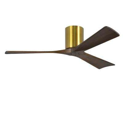 Irene 52 in. Indoor/Outdoor Brushed Brass Ceiling Fan with Remote Control and Wall Control