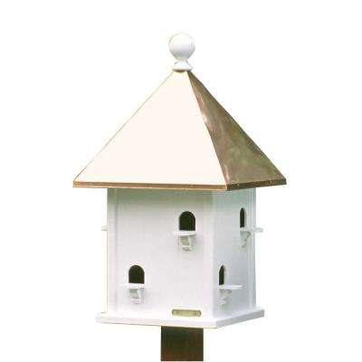 Lazy Hill Farm Designs White Cedar and Polished Copper Square Bird House
