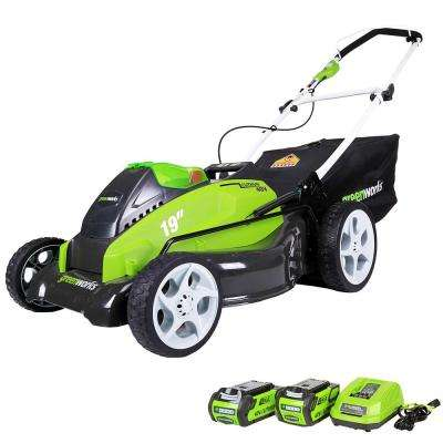G-MAX 19 in. 40-Volt Lithium-Ion Cordless Battery Walk Behind Push Lawn Mower - Battery/Charger Included
