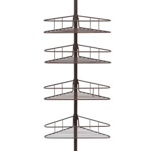 Kenney Oil Rubbed Bronze 4-Tier Triangle Basket Tension Pole Shower Caddy by Kenney