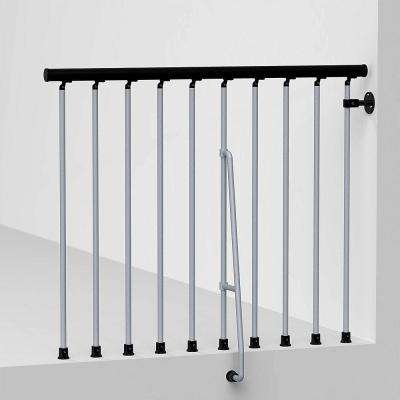 Civik 47 in. Grey Balcony Rail Kit