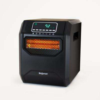 Medium Room 1,500-Watt 4-Element Infrared Heater with Remote without Casters