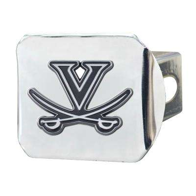 NCAA University of Virginia 2 in. Type III Chrome Hitch Cover with Chrome Emblem