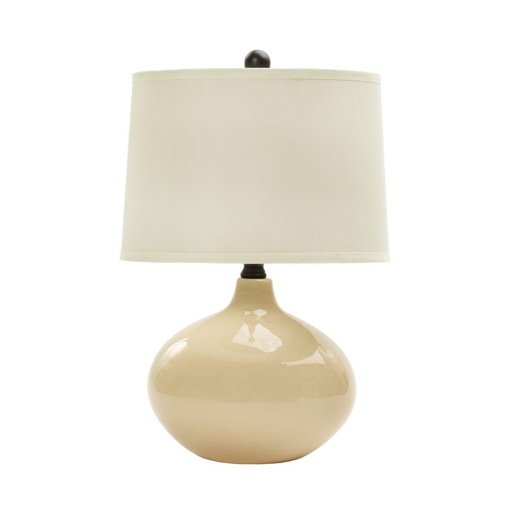 20 in. Bone Ceramic Table Lamp