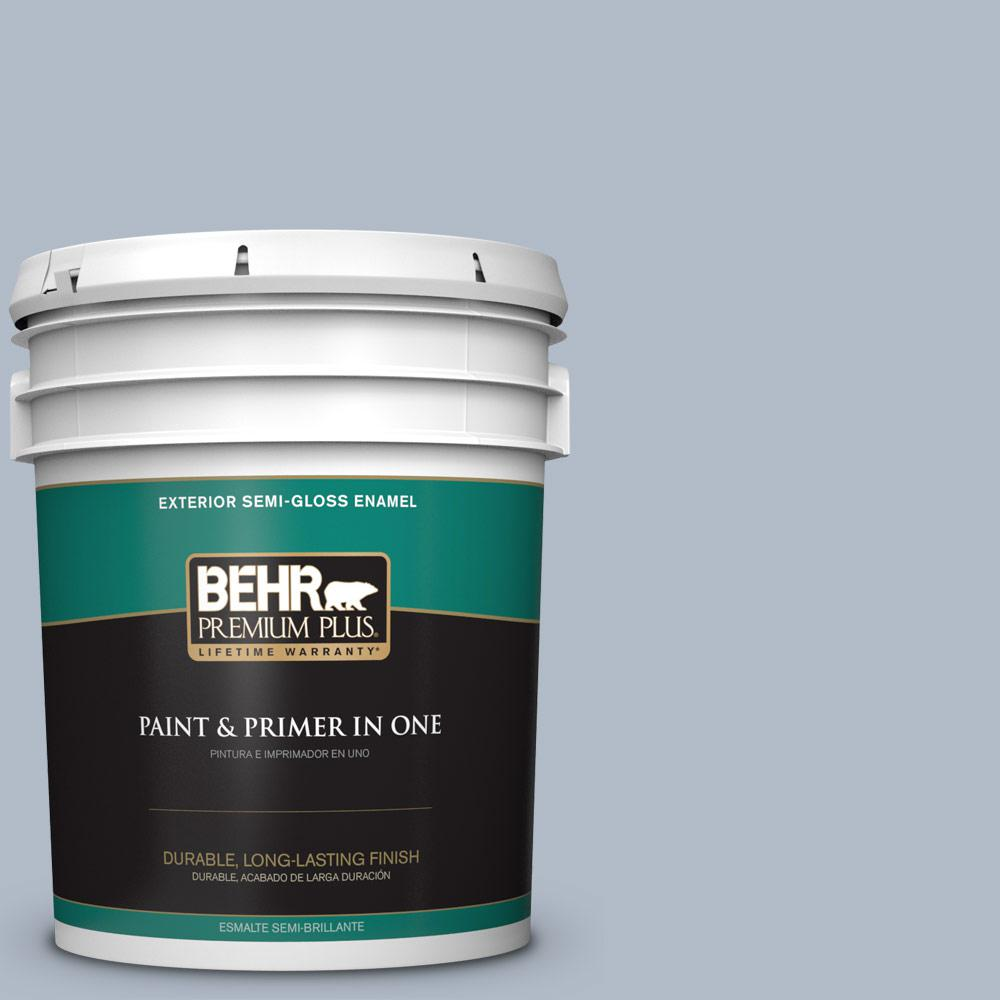 5 gal. #PPU14-12 Hazy Skies Semi-Gloss Enamel Exterior Paint