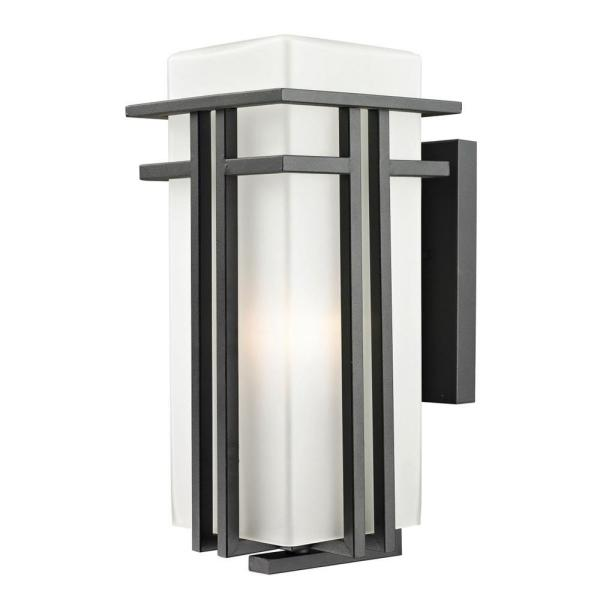 Lawrence 1-Light Black Wall Lantern Sconce