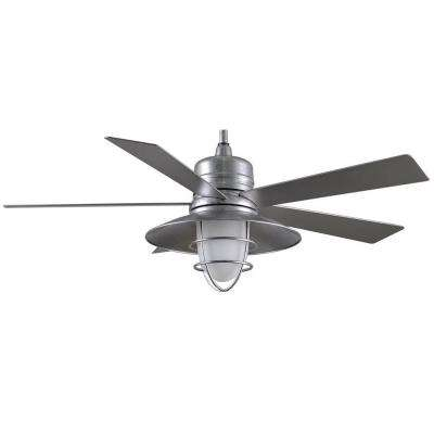 Grayton 54 in. Indoor/Outdoor Galvanized Ceiling Fan with Light Kit and Remote Control