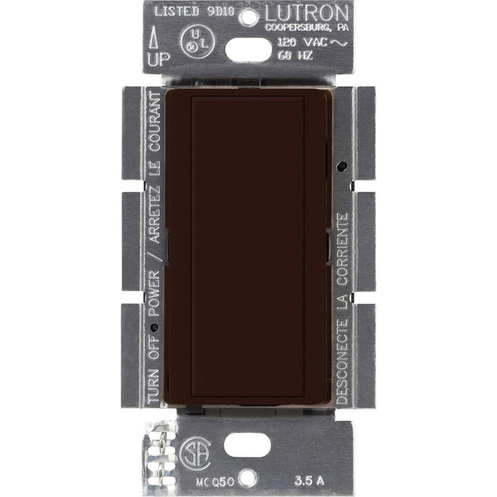Lutron Maestro 8 Amp Multi Location Companion Switch Brown Ma As Light
