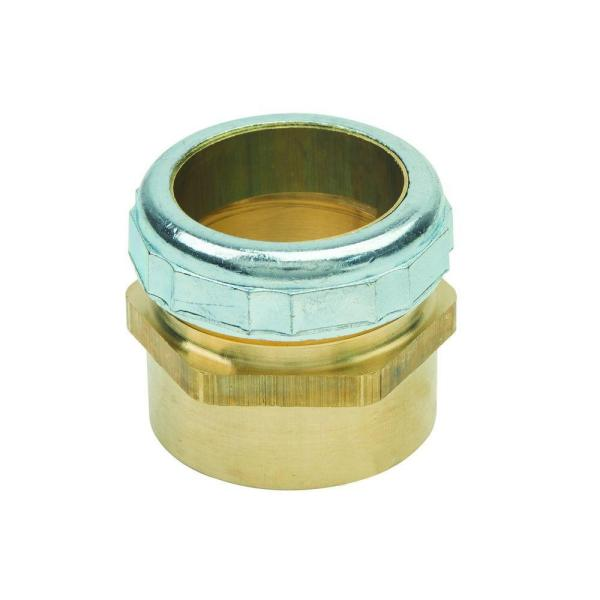 1-1/4 in. O.D. Compression x 1-1/4 in. I.D. Female Sweat Brass Waste Connector with Die Cast Nut in Chrome