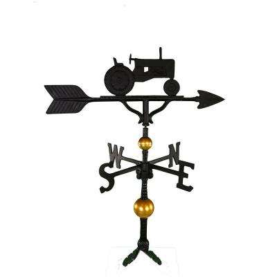 32 in. Deluxe Black Tractor Weathervane