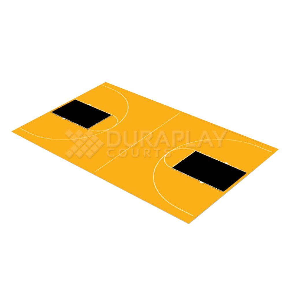 43 ft. 10 in. x 75 ft. 7 in. Yellow and