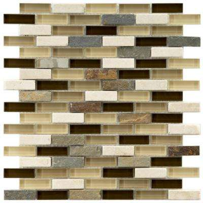 Tessera Subway Nassau 10-3/4 in. x 11-3/4 in. x 8 mm Glass and Stone Mosaic Tile