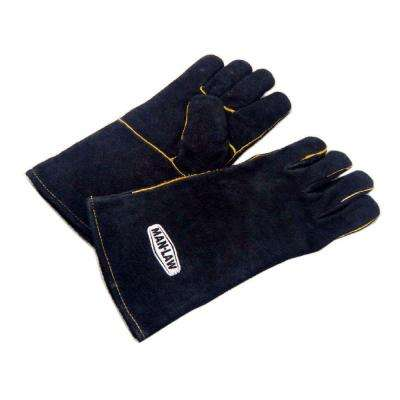 14 in. Leather BBQ Gloves