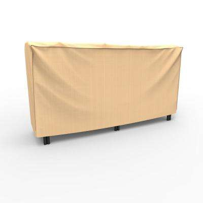 Rust-Oleum NeverWet 2 ft. L x 8 ft. W x 4 ft. H Tan Outdoor Log Rack Cover